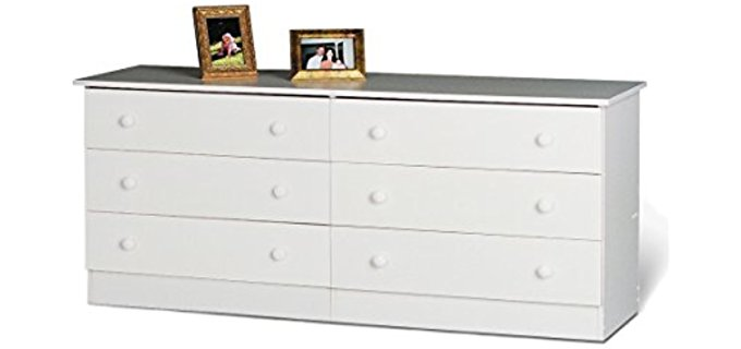 Prepac 6 Drawer Flat Long White Color Dresser