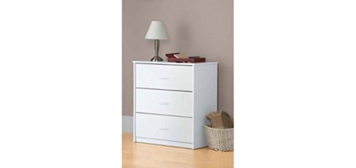 3-Drawer Dresser White