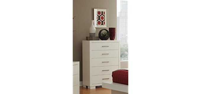 Coaster Home Furnishings Contemporary - 5 Drawer Stacked Off White Chest