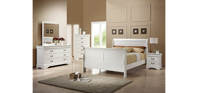 Coaster Home Furnishings Louis Philippe - Six Drawer White Bedroom Dresser