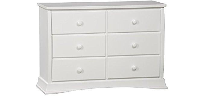 Delta Bentley - Six drawer Girl's Dresser in White