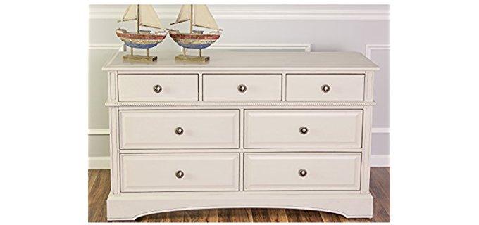 Evolur Double - Dresser in Antique White