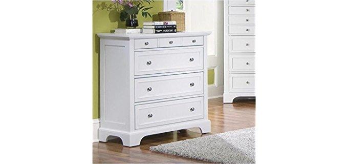 Home Styles Naples - Four Drawer White Wood Chest Dresser