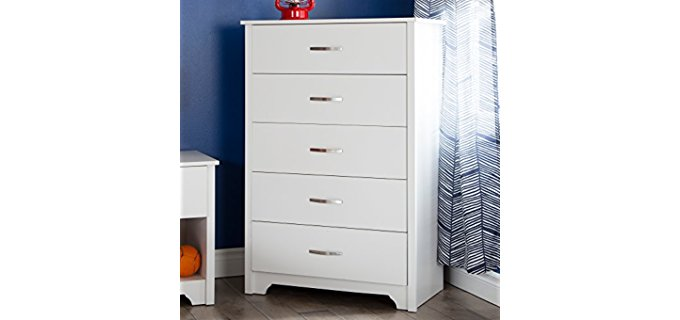 South Shore fusion - Five Drawer Chest Dresser in Pure White