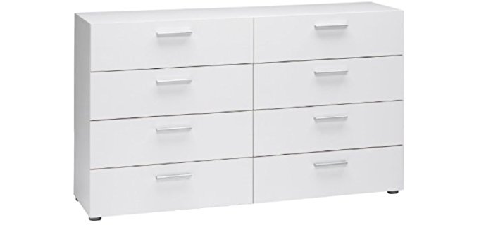Tvilum Austin - Eight Drawer White Modern Dresser