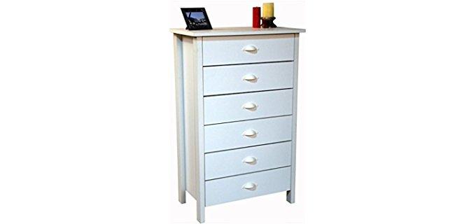 Tall White Dresser