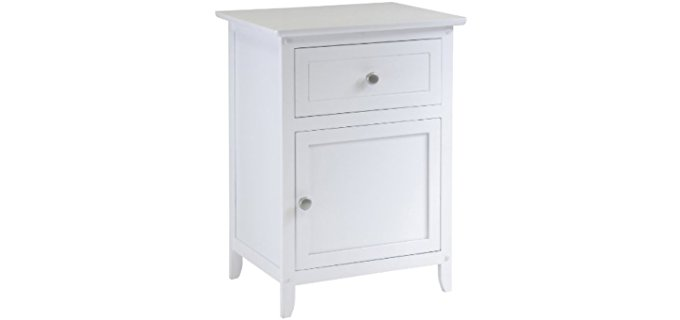 Winsome Night Stand - Small White Bedroom Drawer