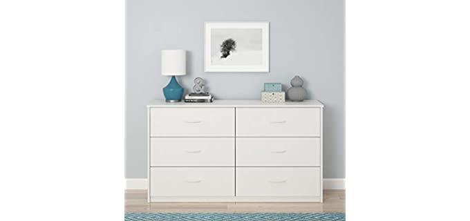 Mainstays White Stipple - 6 Drawer Bedroom Dresser