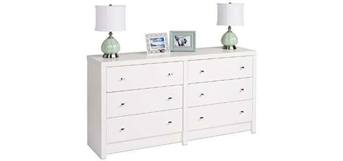Prepac Calla - 6-Drawer White Bedroom Dresser
