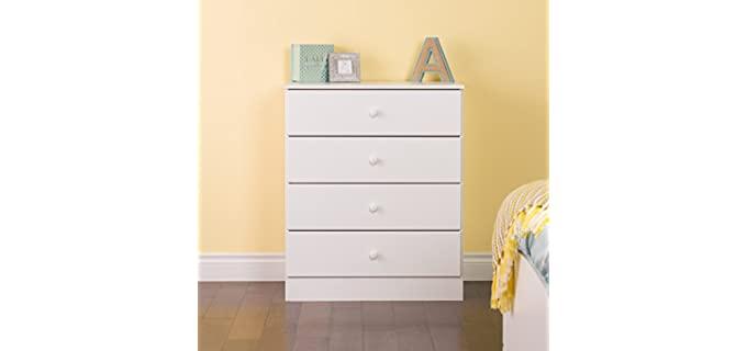 Prepac Astrid - Four Drawer Bedroom White Dresser