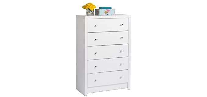 Prepac White Calla - Five Off White Dresser