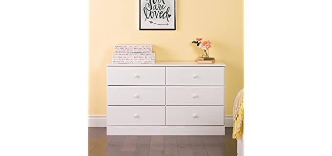 Prepac Astrid - White 6 Drawer Dresser