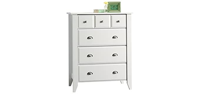 Sauder Shoal Creek - Four Drawer Small White Dresser