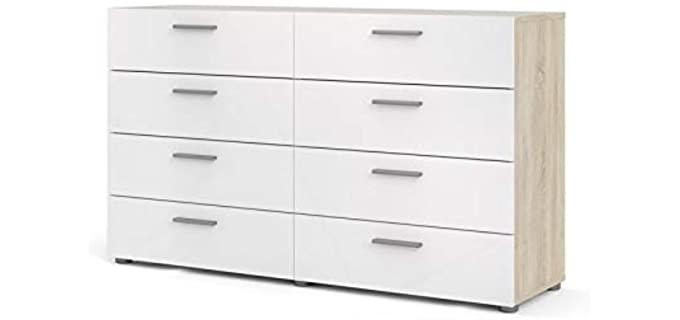Tvilum Austin - Eight Drawer Dresser White High Gloss