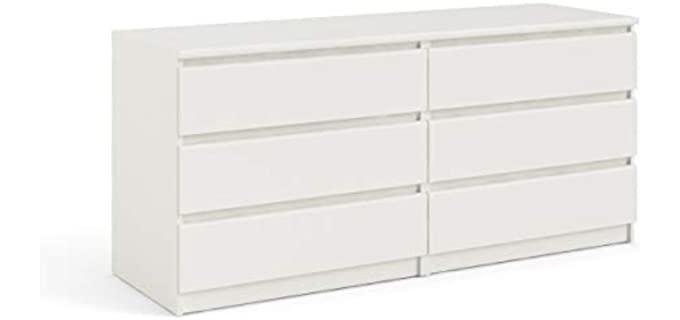 Tvilum Scottsdale - 6 Drawer Dresser in White