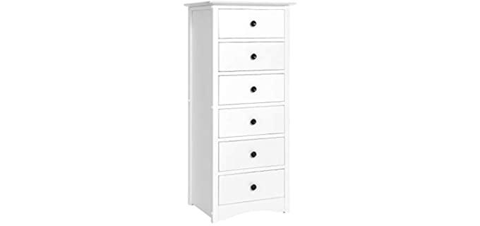 VASAGLE Storage Unit - Dresser for Bedroom with 6 Drawers