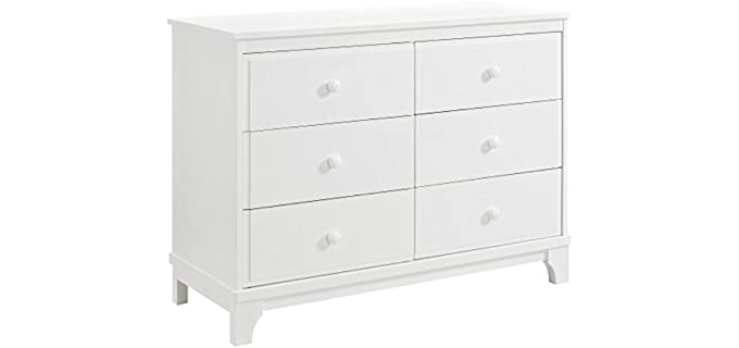 Dorel Asia Baby Relax Rivers - 6 Drawer Dresser in Pure White