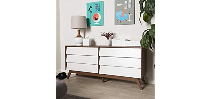 Baxton Studio Hildon - Modern 6-Drawer Storage Dresser