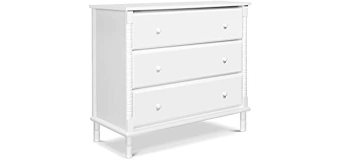 Davinci Jenny Lind Spindle - 3-Drawer Dresser in White