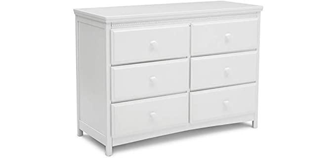 Delta Children Emerson - Six drawer White Dresser