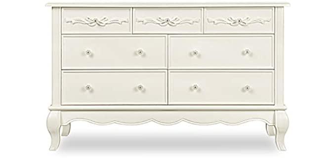 Evolur Aurora - Seven Double Off-White Dresser