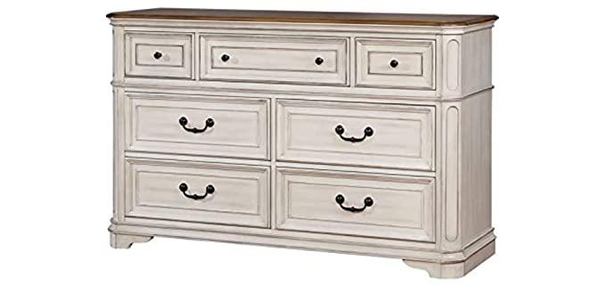 Furniture of America Mayves - Antique White Dresser