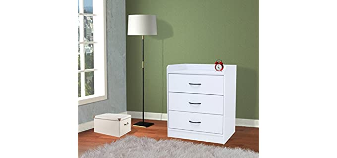 Kings Brand Furniture Jericho - Small Three Drawer Chest