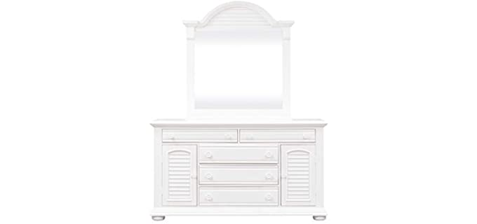 Liberty Furniture Industries Summer House I - White Dresser with Added Mirror