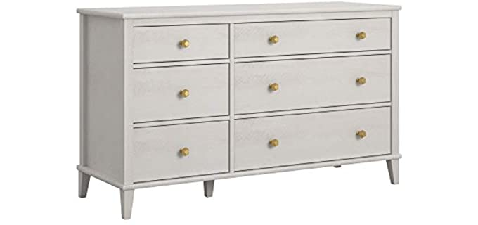 Little Seeds Monarch Hill Poppy - Off-White 6 Drawer Dresser