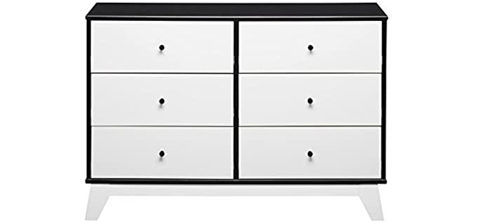 Little Seeds Rowan Valley Flint - Black and White Six Drawer Dresser