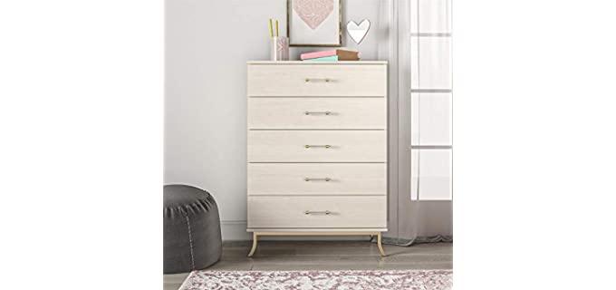 Little Seeds Monarch Hill Clementine - Five Drawer Girl's White Dresser