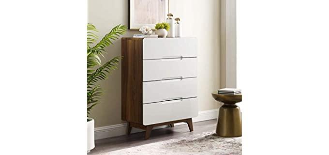 Modway Origin Contemporary - Mid-Century White Modern Dresser