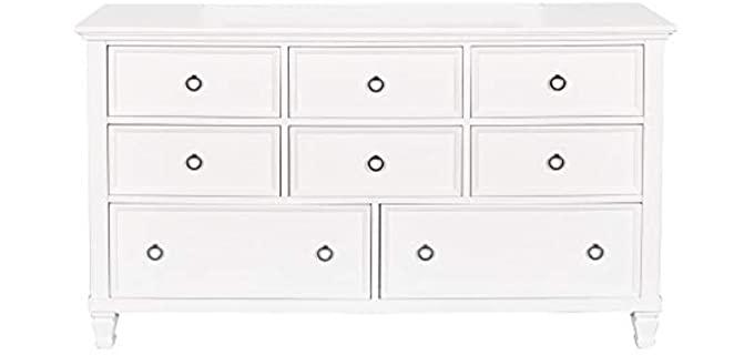 New Classic Furniture Tamarack - White 8 Drawer Dresser