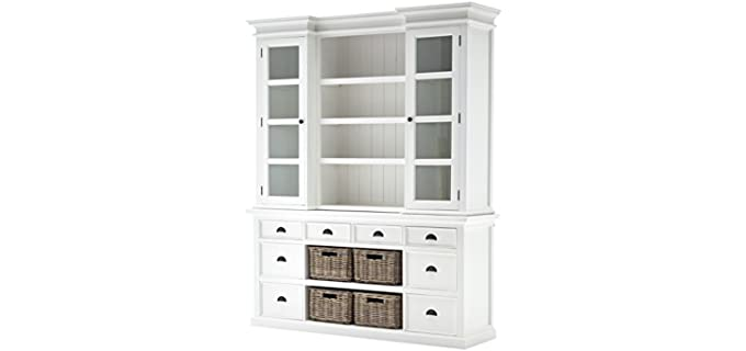 NovaSolo Halifax - Pure White Dresser with Hutch