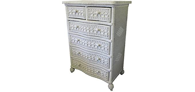Spice Islands Classic - Six White Wicker Dresser