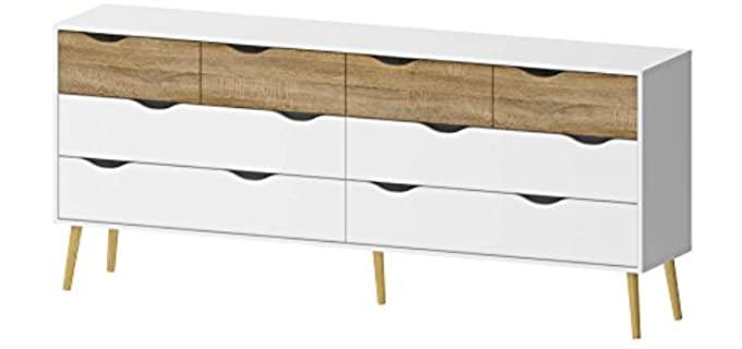 Tvilum Diana -  8 Drawer Dresser in White