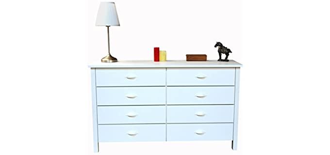 Venture Horizon Nouvelle - 8 Drawer White Dresser